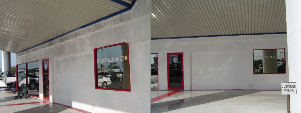 Commercial Exterior Pressure Washing Auto Dealership Clearwater, FL