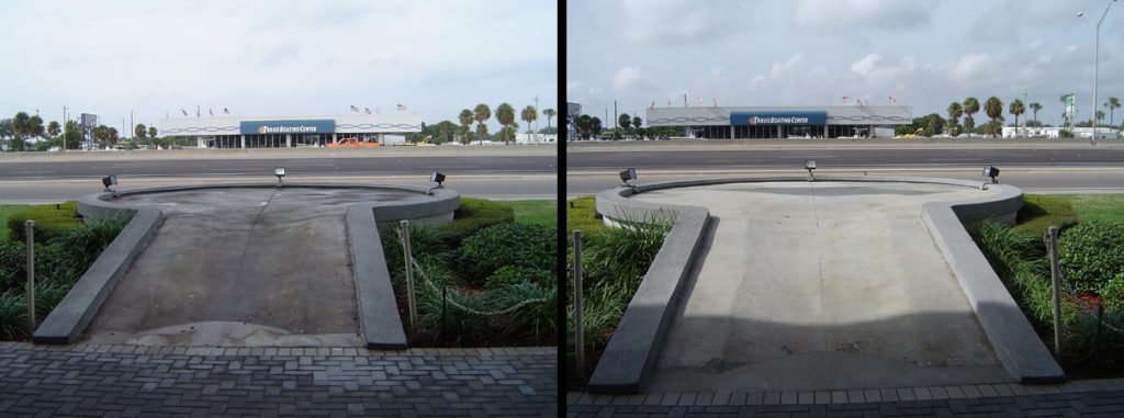 Commercial Pressure Washing Auto Dealership Concrete Platform Clearwater, FL