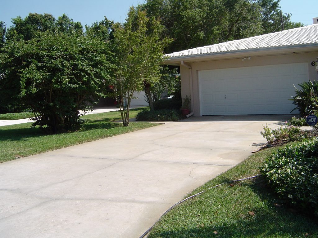 Concrete Driveway Cleaning Belleair Florida After