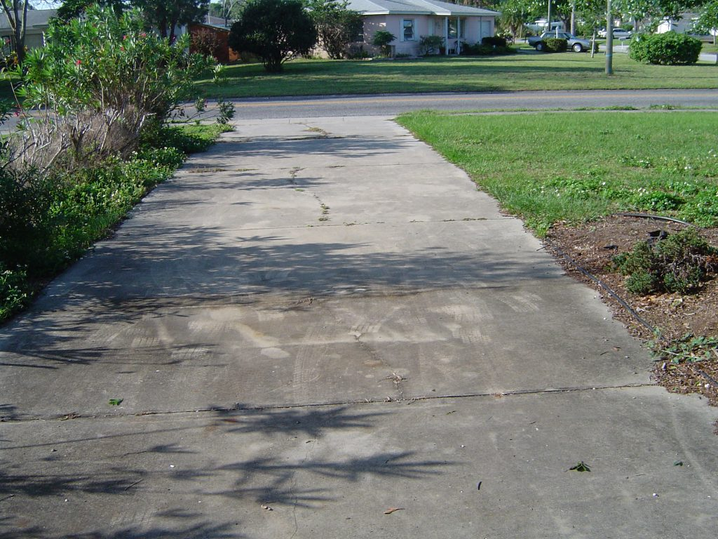 Concrete Driveway Pressure Washing Clearwater Florida Before