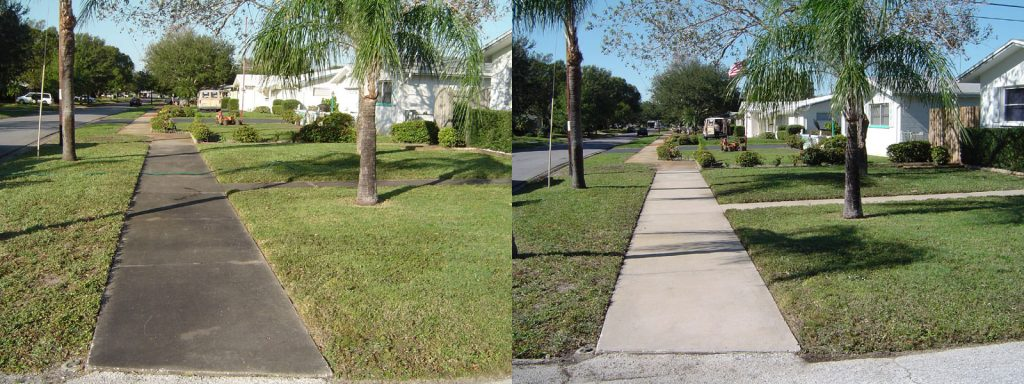 Concrete Sidewalk Pressure Wash St. Petersburg Florida