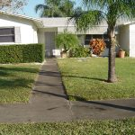Concrete Walk Pressure Wash St. Petersburg Florida Before