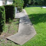 Concrete Walkway Cleaning Seminole Florida Before