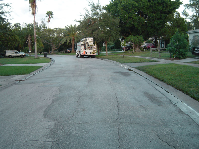 Hydraulic Fluid Stain Street Cleaning After