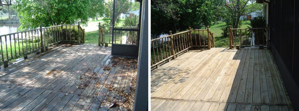 Non Pressure Wood Deck Cleaning Largo Florida