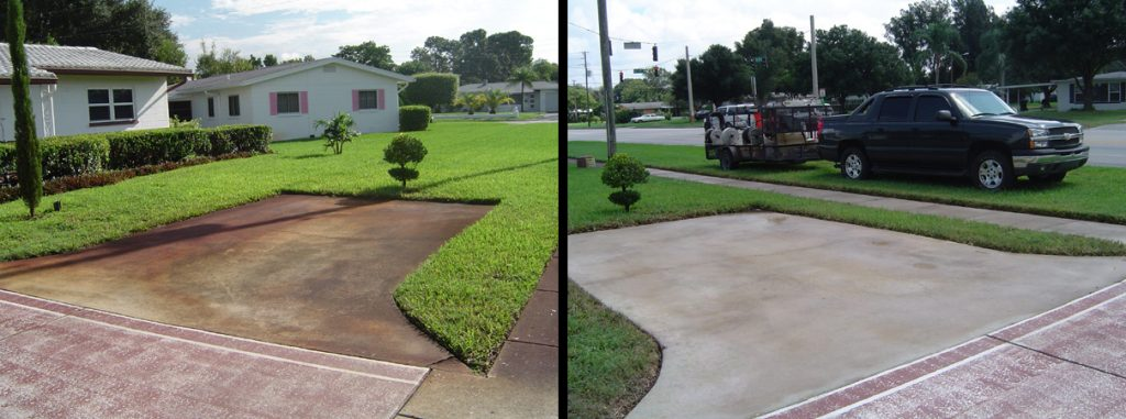St. Petersburg Florida Concrete Pressure Washing and Sulfur Rust Removal