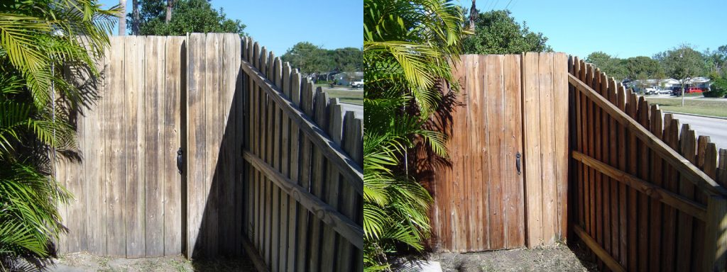 Wood Fence Cleaning Pinellas Florida
